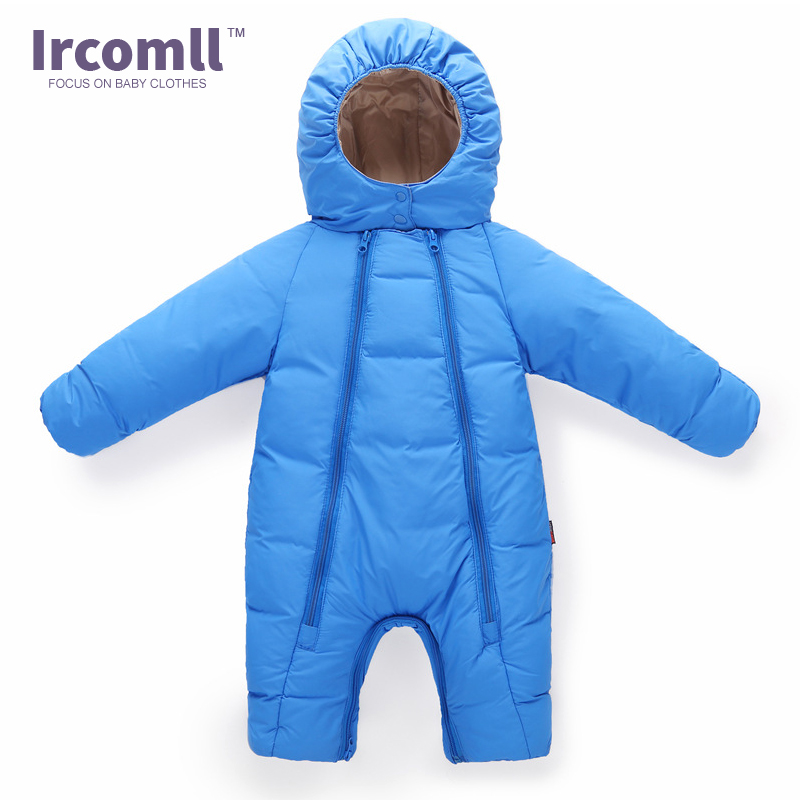 Ircomll Winter Thick Warm Baby boy Rompers Long Sleeve Hooded Jumpsuit Kids Outwear Boys Snowsuit Roupa Infantil For 6-24Months 2017 new baby rompers winter thick warm baby girl boy clothing long sleeve hooded jumpsuit kids newborn outwear for 1 3t