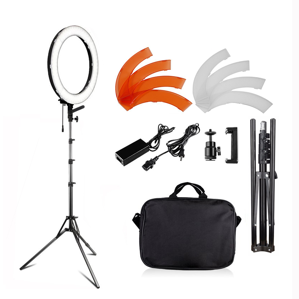 Camera Photo Video LED Photo Studio Makeup Ring Dimmable Lighting Kit 60W 45W 3200K Light Stand Self-Portrait Video Shooting
