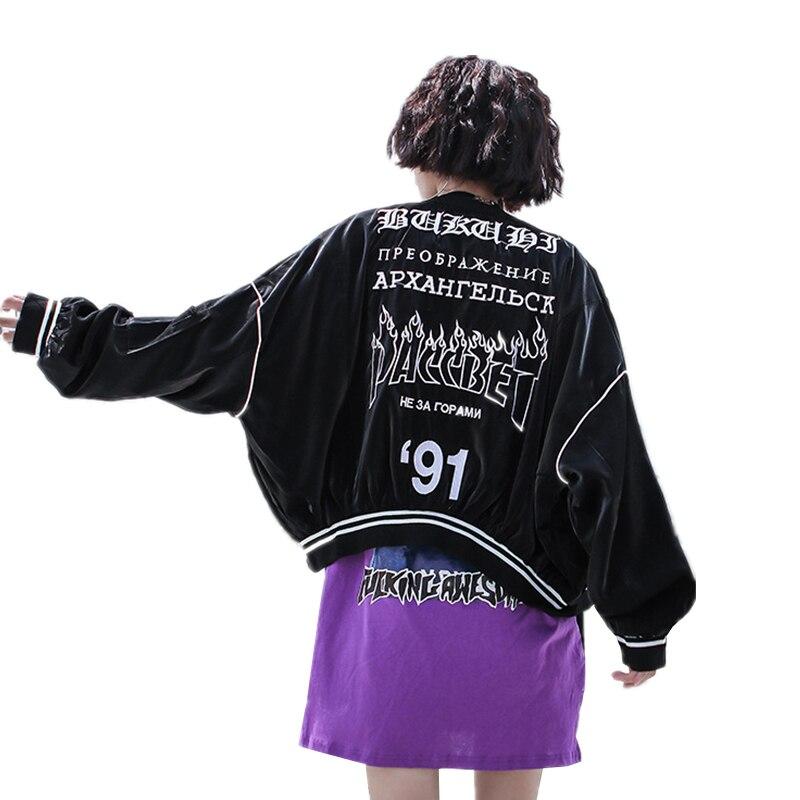 Mode Plus Taille Femme Veste Noir Broderie Lettre Manches Black Survêtement La Femmes Col Manteau Casual De Automne Longues Q896 Montant Lâche 6FP6Saq