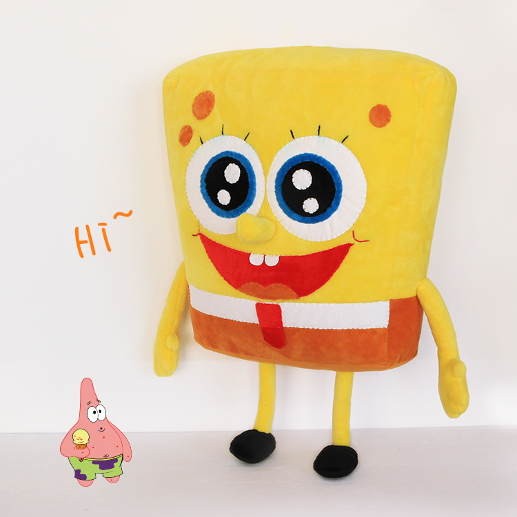 1pcs Create your own DIY 46cm Spongebob Baby And Patrick Plush Toy Soft Anime Cosplay Doll High Quality Gifts For Kids and Girls