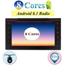 Octa Core Android 8 Auto Lettore DVD per Toyota Corolla Auris Fortuner Estima vios Innova 2016 2017 2018 di navigazione gps auto lettore