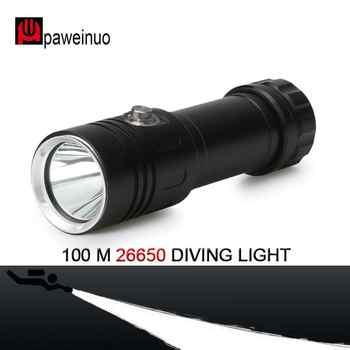 CREE XM-L2 26650 or 18650 Diving light torch Underwater 100 m led dive lanterna Spotlight power display Diver diving flashlight - Category 🛒 Lights & Lighting