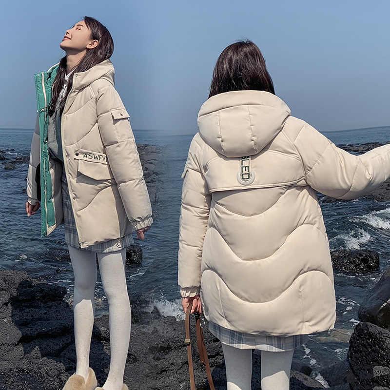 Neue Winter Unten Baumwolle Jacke Frauen verdickung mit kapuze unten parka padded jacke weibliche 821