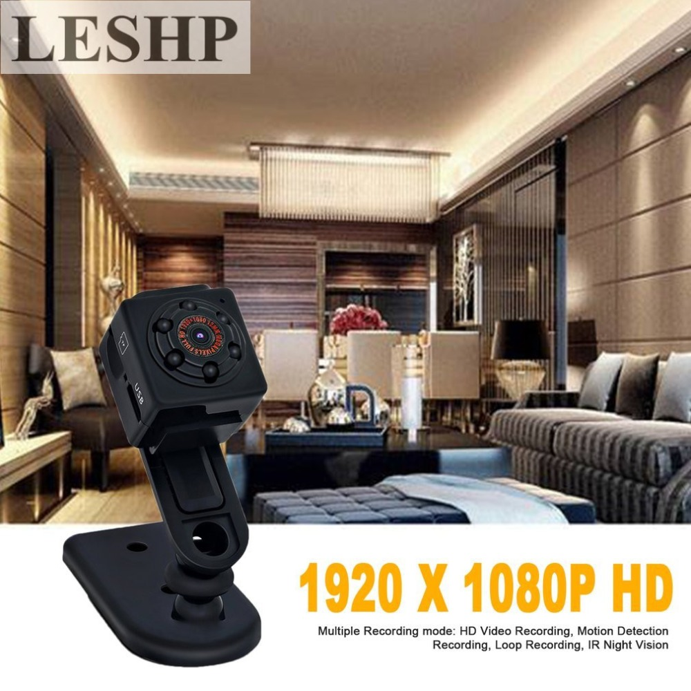 LESHP  Mini Cam Portable Security Camera Motion Detection 1080P HD Video Surveillance Camcorder IR Night Vision Loop Recording wireless security cam 960p hd video surveillance recording streamed on smart devices 2 way audio surveillance nanny or pet cam