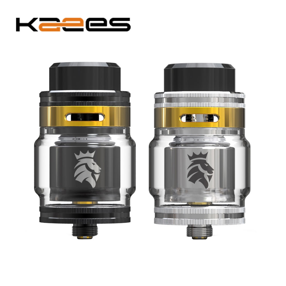 Original KAEES Solomon 2 RTA 5ml/3.5ml 24mm Single Coil Rebuildable Tank with 24K Gold Plated build deck e-cig Vape Atomizer original wotofo serpent rdta rta tank 2 5ml capacity top filling rebuildable tank atomizer clamped build deck e cig rdta atomize