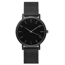 Relogio Feminino Top Brand Men Watches Fashion Stainless Steel Analog Quartz Wrist Watch Lady Luxury Mesh