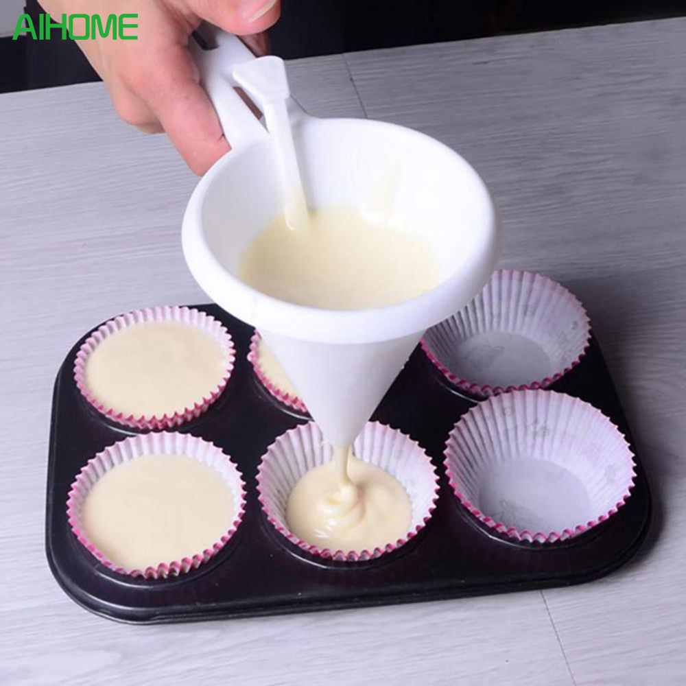 Adjustable Icing Candy Kitchen Funnel Chocolate Pastry Batter Dispenser Cream Cookie Cupcake Pancake Muffin Funnel Baking Tools(China)