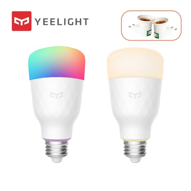 Yeelight スマート led 電球カラフルな白スマート電球用アプリ eu 電球アダプタ