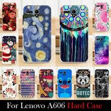Para LENOVO A606 caixa de plástico rígido Mobile Case capa do telefone DIY cor Paitn de bolsa de celular transporte Shell livre