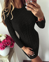 Sweater Dress black robe sexy Women Slim Bodycon Dress pull femme hiver Knitted Dress roupas femininas cardigan jersey mujer