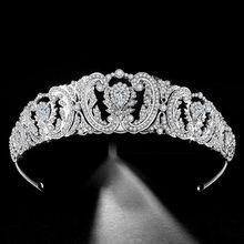 Barroca tiaras de noiva, enfeites de noiva para cabelo, diadema, acessórios de joias de cristal de luxo para casamento