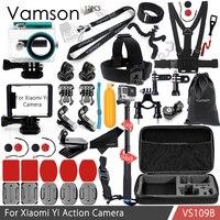 Vamson For Xiaomi Yi Accessories Kit Neck Strap Selfie Stick Waterproof Housing Case Standard Frame For