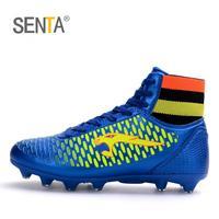 SENTA Yeni Erkekler Futbol Ayakkabı Düşük Ayak Bileği Superfly Futbol Çizmeler Çocuklar Orijinal Altın Metalik Cleats Sneakers Toptan çocuk Futbol