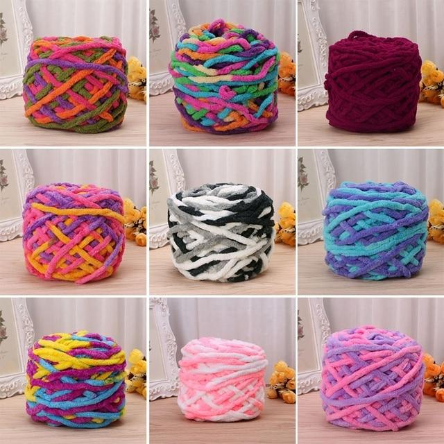 25 цвет творческой DIY Красочные краситель шарф ручной вязки пряжа хлопчатобумажной пряжи ручного вязания Коренастый тканые громоздкие крючком Worested пряжа
