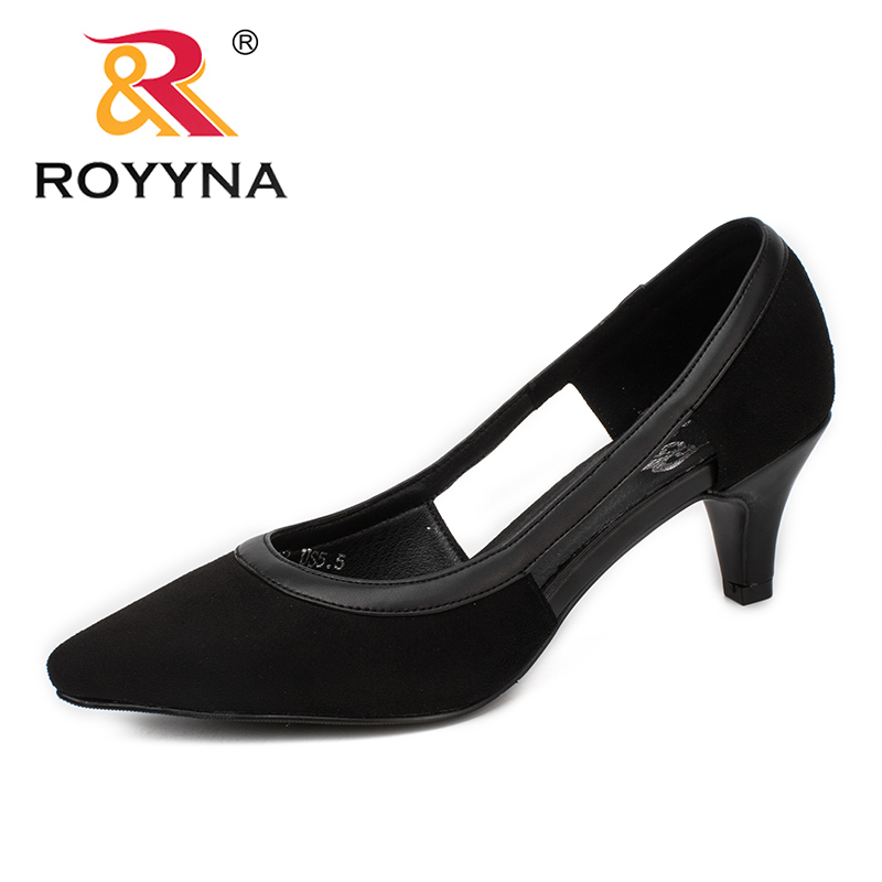 ROYYNA New Style Women Pumps Pointed Toe Women Shoes Shallow Lady Dress Shoes Sweet Lady Wedding Shoes Light Soft Free Shipping royyna new sweet style women sandals cover heel summer gingham women shoes casual gladiator ladies shoes soft fast free shipping