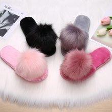 Slippers Slides House Indoor-Shoes Furry-Sliders Plush-Pantoufle Women Winter Ladies