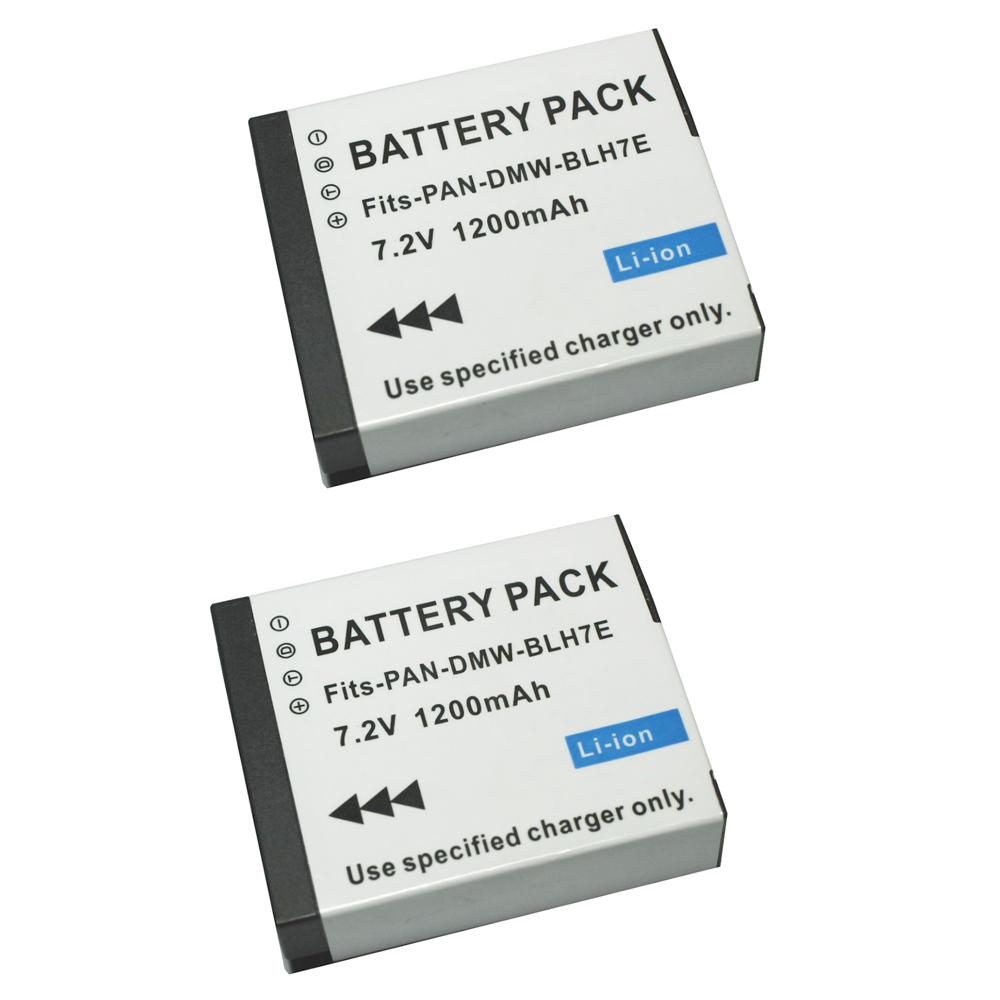 2pcs DMW-BLH7 BLH7PP BLH7E Rechargeable Battery for Panasonic Lumix DMC-GM1 GM1 DMC-GM5 GM5 DMC-GF7 GF7 DMC-GF8 GF8 LX10 LX15
