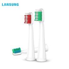 LANSUNG 4 Pcs Cabeça Escova de Dentes escova de Dentes Elétrica Cabeça Substituição Apto para U1 A39 A39PLUS A1 SN901 SN902 Escova de Dente Oral higiene