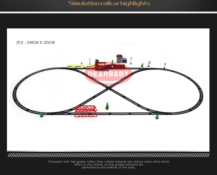 Electric train toys Super long track set with light sound Classic/Modern locomotive train toys for children boys gift - 4