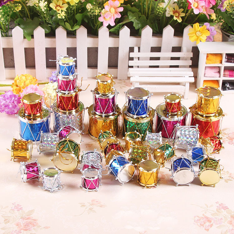 Christmas Drum Decor.12pcs Lot Chrismas Decor Navidad Christmas Drum Wedding Xmas