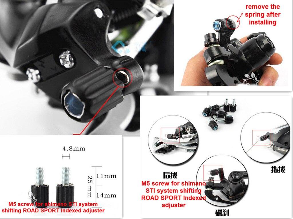 1pc Bike Brake Road Bike M5 Down Tube Index Barrel Cable Adjuster