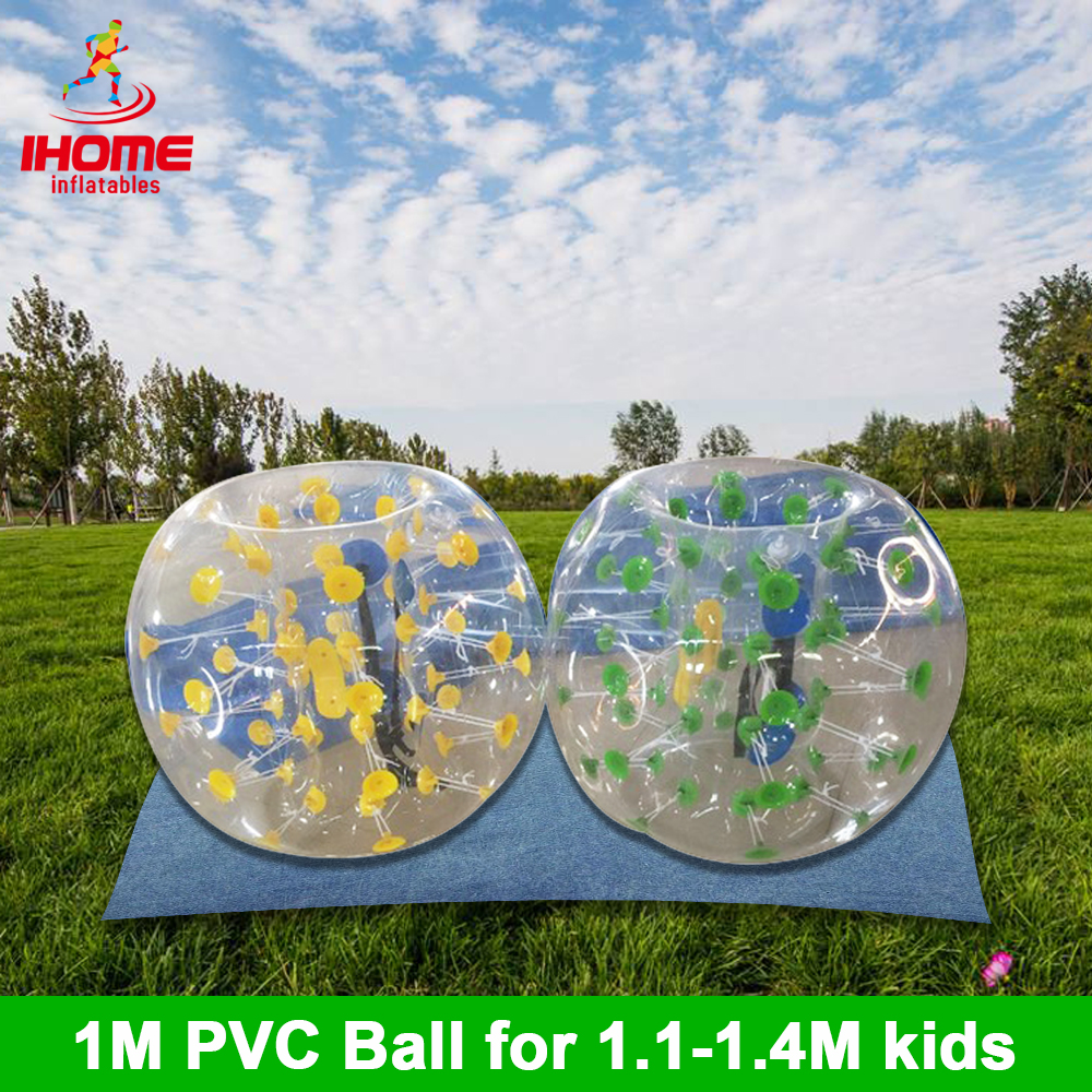 2PCS/lot 1m PVC Inflatable Bubble Soccer Football Ball With A Feet Pump Zorb Ball Hamster Ball Bumper Ball For Team Building
