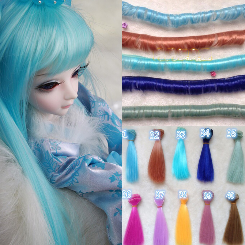 Dolls Accessories Honesty 30pcs/lot Wholesale Straight Doll Hair Diy Handmade Sd Bjd Wig Hair To Enjoy High Reputation At Home And Abroad