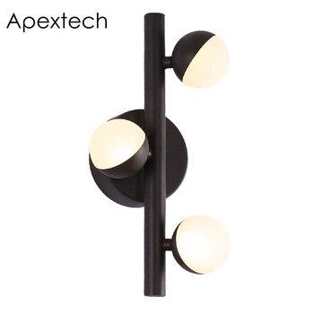 Apextech led 벽 램프 현대 노르딕 stlye 침대 옆 밤 빛 복도 벽 조명 거실 실내 장식 조명