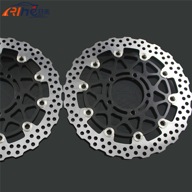 motorcycle Brake Roto front brake disc rotos For KAWASAKI ZX-14R ZZR1400 GTR1400 2006 2007 2008 2009 2010 2011 2012 2013 2014 the new motorcycle bike 2006 2007 2008 2009 2010 2011 kawasaki zx 10r zx10r zx 10r knife brake clutch levers cnc