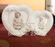 free shipping wedding favor two hearts European couple photo frame ornaments creative