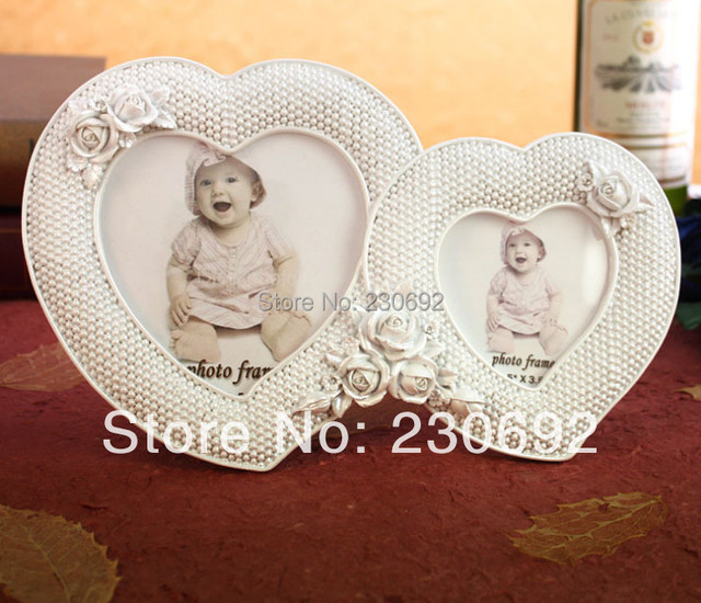free shipping wedding favor two hearts European couple photo frame ...