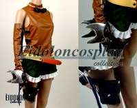 Final Fantasy X 2 Rikku Cosplay Costume with gloves