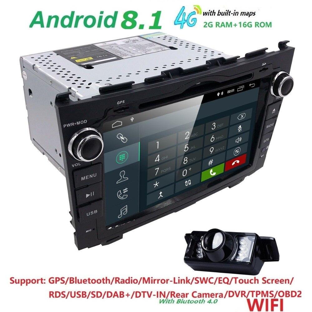 Android 8.1 HD 1024*600 Car DVD Player Radio For Honda CRV 2007 2008 2009 2010 2011 4G WIFI GPS Navigation Head Unit 2 din 2GRAM youmecity car dvd player gps navi for honda crv 2007 2011 ips capacitive screen 1024 600 wifi bt swc rds android 8 1 2g ram