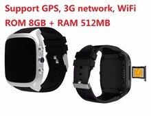 Android 5.1 Wi-fi Relógio Inteligente apoio APP download diretamente 1.3 ghz 8g + 512 mb Smartwatch 3g relógio de Pulso w/GPS Câmera DO Relógio Do Cartão Do SIM
