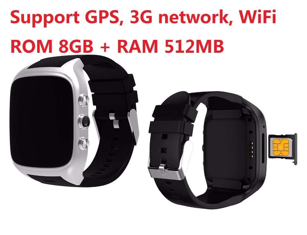 ELECTSHONG Android 5.1 Smart Watch Smartwatch Wristwatch 1.3GHz 8G ROM 512 RAM 3G SIM WiFi Sport Fitness 2MP Camera GPS Watch ip68 waterproof android gps smart watch smartwatch wristwatch 3g sim wifi sport fitness 5mp camera h1 steel strap smart watch