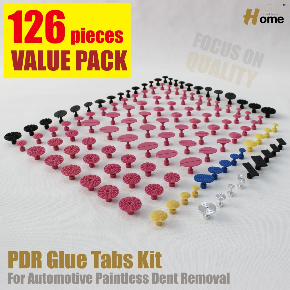 PDR Glue pulling Tabs Painless Dent Repair Tools suction cup dents panel repair system spares consumables round flat pull knob ...