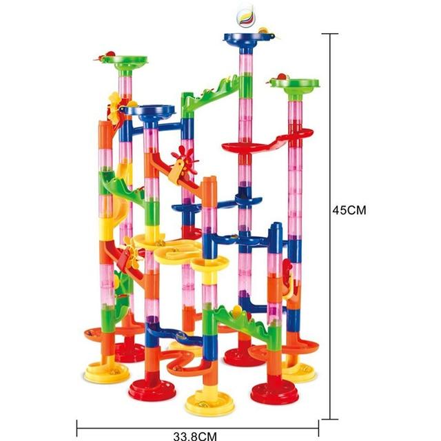 105PCS DIY Construction Marble Race Run Maze Balls Track Building Blocks Children Gift For Baby Educational Toys 1