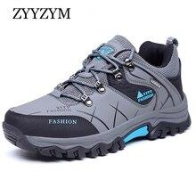 ZYYZYM Mens Boots Autumn Low-Top Men Lace-Up Style Outdoor Man Shoes boots Plus Size 38-47