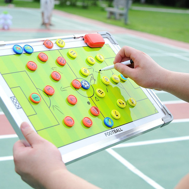 PortableTrainning Assisitant Equipments Football Soccer Tactical Board  Fold Leather Useful Teaching Board Football accessories