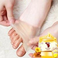 Мед, молоко воск для ног маска для ног увлажняющий, увлажнение питательный отбеливающий уход за кожей Отшелушивающий уход за кожей ног анти-...