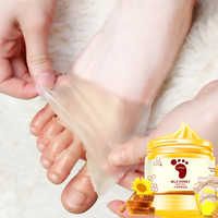 Honey Milk Foot Wax Feet Mask Moisturizing Hydrating Nourishing Whitening Skin Care Peel Off Foot Skin Care Exfoliating Anti-dry