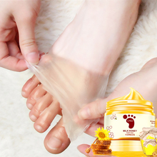 hot deal buy lamilee honey milk foot wax mask moisturizing hydrating nourish whitening skin care peel off foot skin care for women