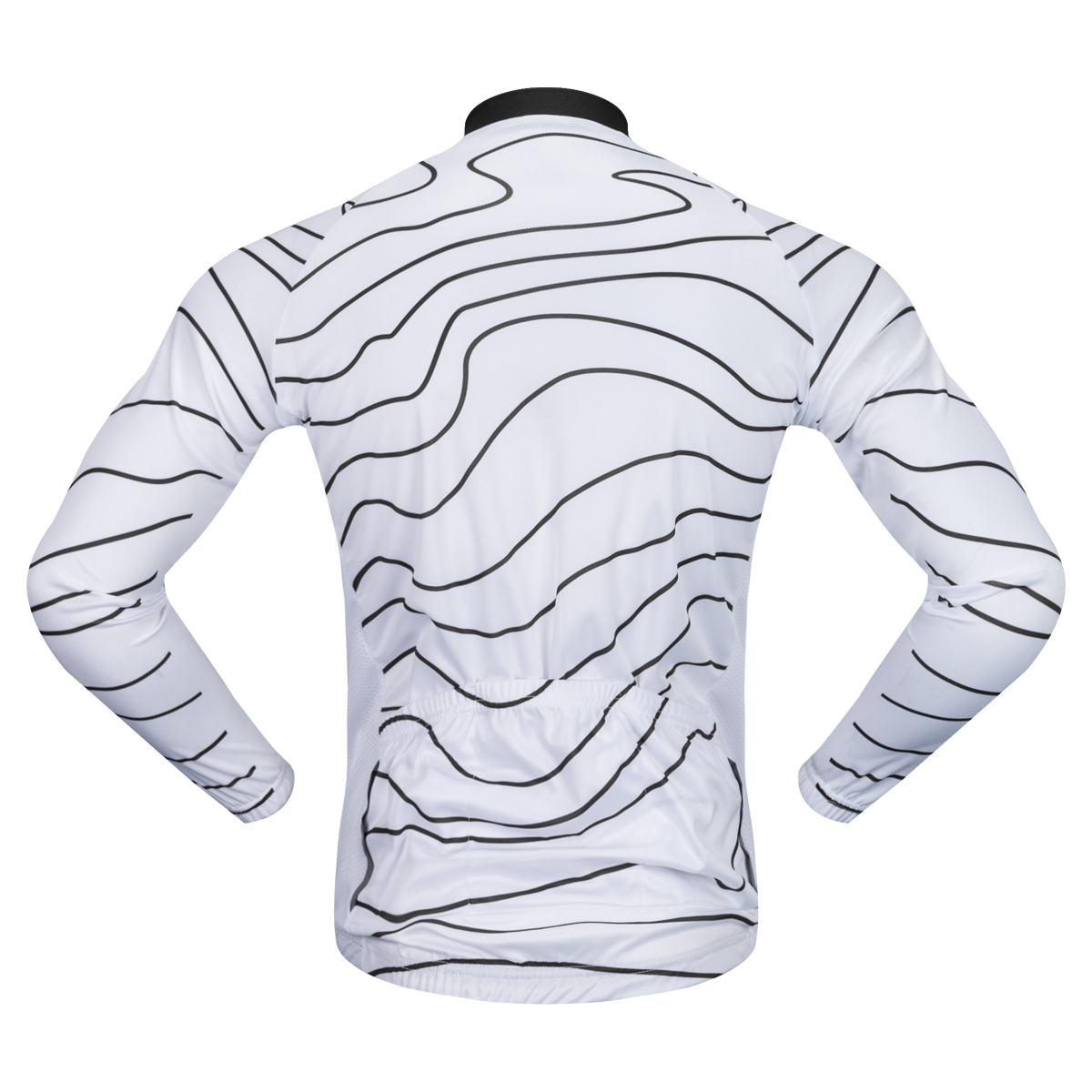 WOSAWE NEW 2017 Man Wave Cycling Jersey Autumn Elastic Tight Ciclismo Ropa Bicycle  Bike Long Sleeves Sportswear Cycling Clothing-in Cycling Jerseys from ... f8f89d23c