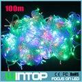 100 м / 500 светод. 220 В RGB / белый / теплый белый мигающий из светодиодов свет шнура сид праздник огней 8 различными режимами на рождество / ну вечеринку / свадьбы