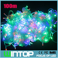 100M/500leds 220V RGB/White/Warm White Flashing LED String Light Holiday Lights 8Different Modes for Christmas/Party/Wedding