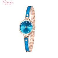KIMIO Blue Ladies Bracelet Watch New Fashion Casual Women Quartz Watches Female Girl Simple Dress Wristwatch