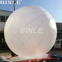 6m 20ft event exhibition decoration giant inflatable sphere balloon large white ground ball with colorful led light for sale