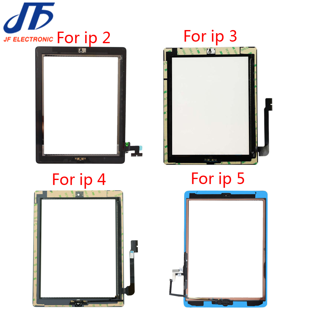 DHL Free shipping For iPad 2 3 4 5 Touch Screen Digitizer Assembly with Home Button