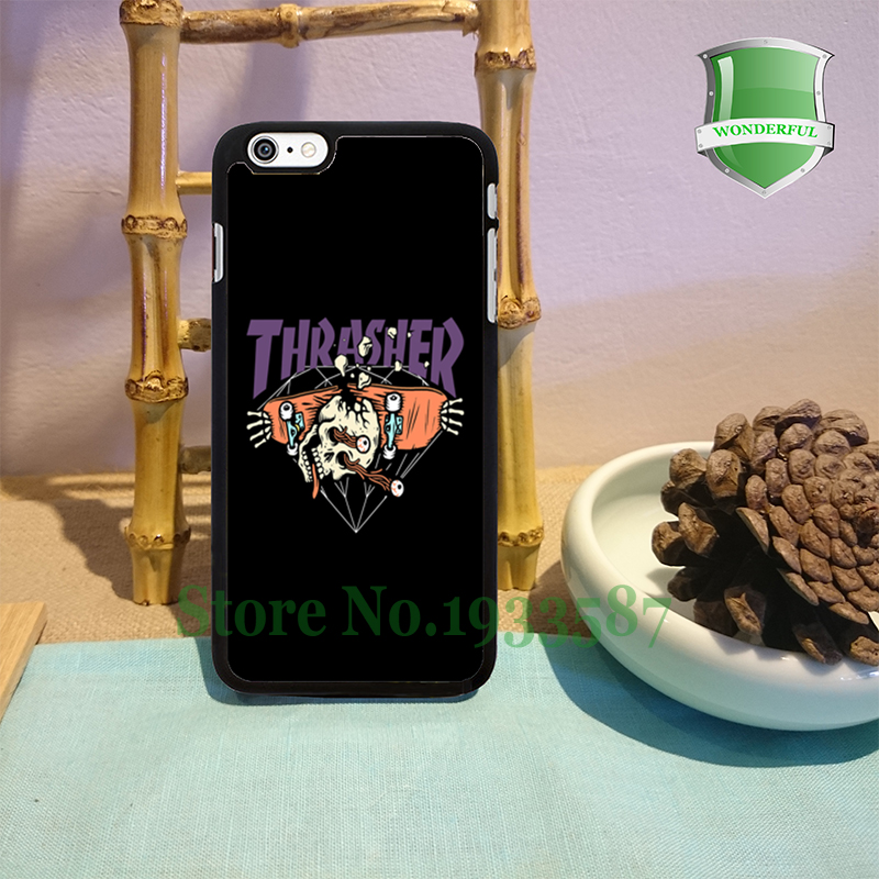 thrasher diamond supply co original black cell phone cases for iphone 6 6 plus 6s 6splus 5 5s 5c 4 4s W-7129