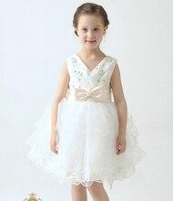 Подарки на Новый Год 2016 Детей платья девушки принцесса белое свадебное платье Свадебное платье вечернее платье Рождество девушки подарок